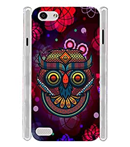 Indian Owl Graphics Soft Silicon Rubberized Back Case Cover for Oppo Neo 7