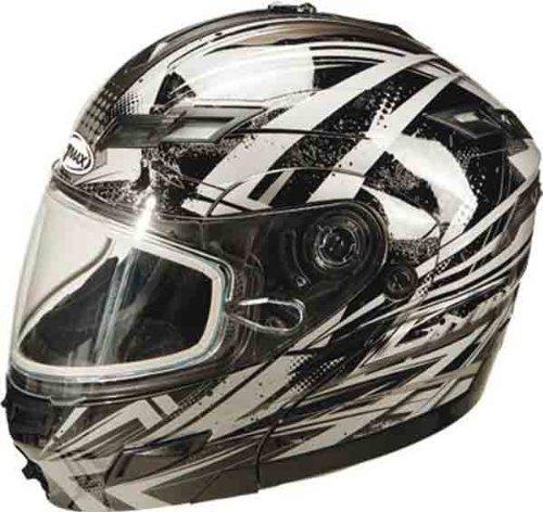 G-Max GM54S Highmark Helmet , Helmet Type: Modular Helmets, Helmet Category: Snow, Gender: Mens/Unisex, Distinct Name: Dark Silver/Black/Silver, Primary Color: Silver, Size: Sm G2544544 TC-19 (Gmax Modular Helmet Small compare prices)
