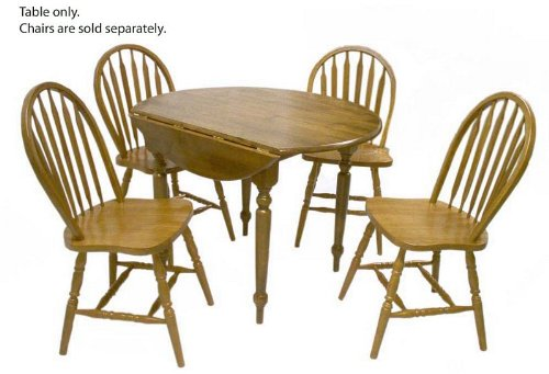 40 Inch Round Drop Leaf Dining Table Oak Dining Table Extendable