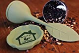 Tea Infuser 2 Pack Butler in the Home® Loose Leaf Tea Water Infuser Steeper Strainer Filter Silicone and Stainless Steel Bottom Drip Cup Dark Green