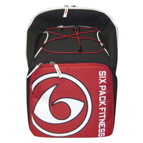 6 Pack Fitness Prodigy Pursuit 300 Backpack Black/Red