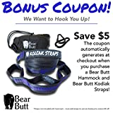 """Bear Butt #1 Double Parachute Camping Hammock *START UP COMPANY """"Shaking The Eagle Out Of The Nest Since 2015"""" (Blue / Gray)"""