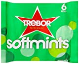 Trebor Softmints Peppermint (9 x Pack of 4, Total 36 Rolls)