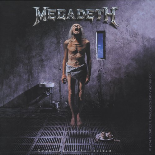 Licenses Products Megadeth Countdown To Extinction Sticker