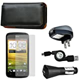 51Fnd6 jOLL. SL160  CrazyOnDigital Leather Case with Charger and Screen Protector For HTC T Mobile One S (5 item)