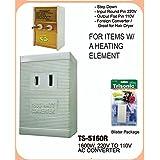 International Voltage Converter 220V to 110V 1600 Watt. Use US appliances overseas