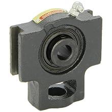 "Sealmaster ST-10 Take-Up Unit, Standard Duty, Regreasable, Setscrew Locking Collar, Felt Seals, Cast Iron Housing, 5/8"" Bore, 17/32"" Slot Width, 3"" Between Frames"