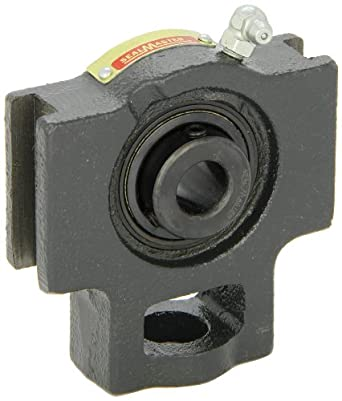 "Sealmaster ST-10 Take-Up Unit, Standard Duty, Regreasable, Setscrew Locking Collar, Felt Seals, Cast Iron Housing, 5/8"" Bore, 17/32"" Slot Width, 3"" Between Frames"