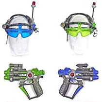 Big Sale Best Cheap Deals Laser Jam 2 Gun Set -LASER TAG GUN SET - ACTUAL DESIGNS AND COLORS MAY VARY SLIGHTLY