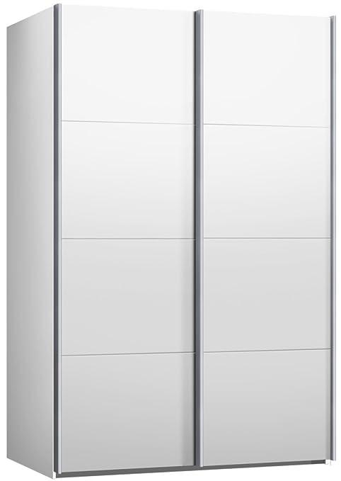 Schwebeturenschrank, Kleiderschrank, ca. 150 cm, Weiss, Schiebeturenschrank