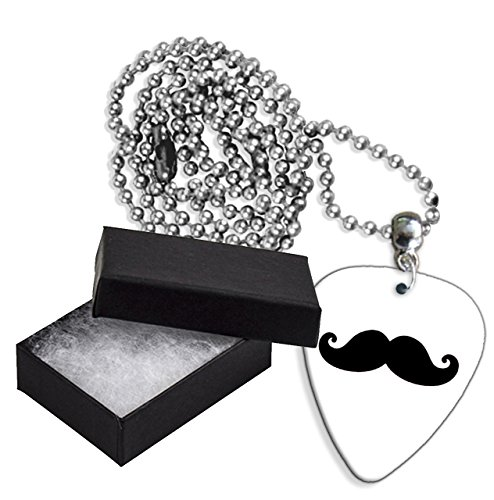 Mustache Boxed Metal Chitarra Pick Necklace Collana (GD)