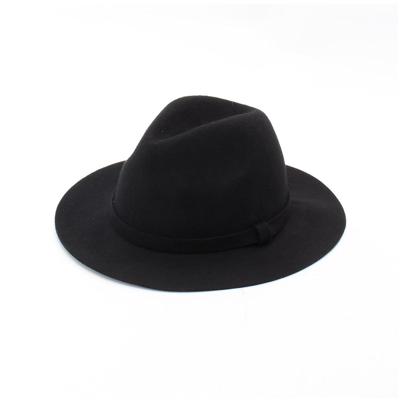 Amazon.co.jp: (グローブ)grove フェルト中折れハット ブラック(019) 00: 服&ファッション小物通販