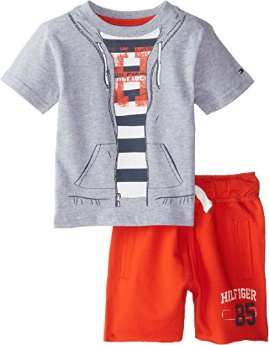 Tommy Hilfiger Baby Boys Shoreman Tee Set Grey Heather