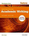 img - for By Alice Savage Effective Academic Writing 2e Intro Student Book (2 Pap/Psc) book / textbook / text book