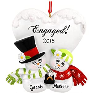 Personalized engaged couple christmas holiday Unique christmas gifts for couples who have everything