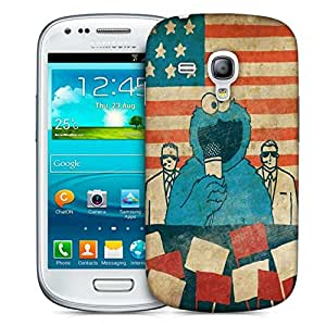 Snoogg Monster Singing Printed Protective Phone Back Case Cover For Samsung S3 Mini / S III Mini