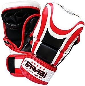 Farabi Hybrid semi pro 7-oz MMA Gloves training sparring Grappling glove - Size : Large