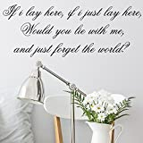 Snow Patrol If i lay here song lyrics Wall Sticker Decal Bedroom Wall Art Small
