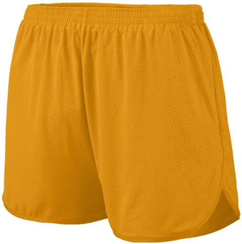 Augusta Sportswear Youth Covered Elastic Waistband Short, Gold, Small front-1084544