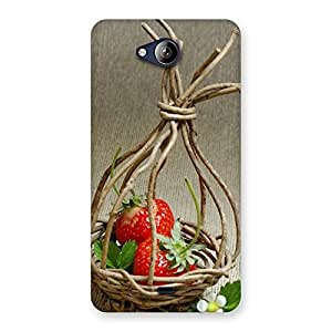 Premium Straberry Basket Multicolor Back Case Cover for Canvas Play Q355