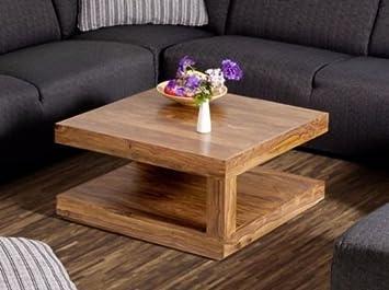 Aspaki Couchtisch 75x75 cm Wohnzimmertisch Massivholz Palisander