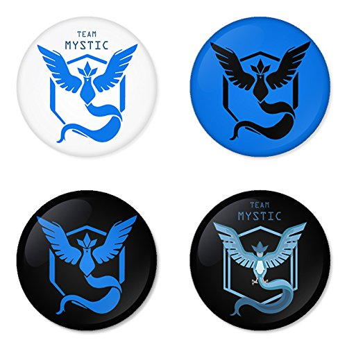 Pokemon Go Blue team Mystic badges buttons 1.75
