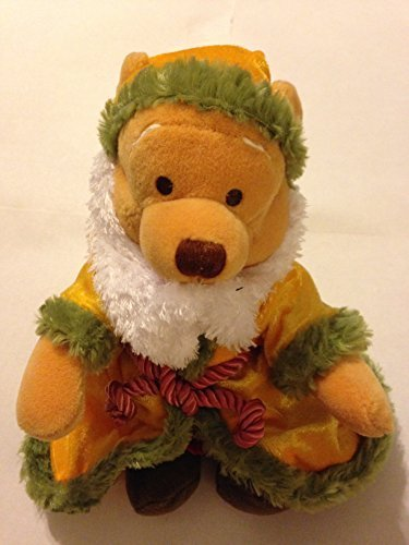 "Disney Winnie the Pooh Switzerland Father Christmas 8"" Plush Bean Bag Santa Dol"