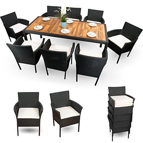 Polyrattan-Gartenmbel-Sitzgruppe-Set-Gartenmbel-Set-Rattan-81-XXXL-schwarz-18-tlg