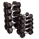 51Fnv2WIHQL. SL160  Body Solid SDRS550 5 50 Pound Rubber Hex Dumbbell Set