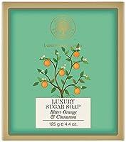 Forest Essentials Bitter Orange and Cinnamon Luxury Sugar Soap, 125g