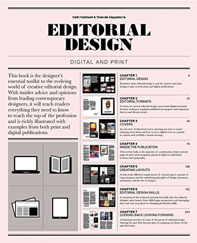 Editorial design digital and print