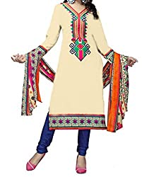 Sapna Women Poly Cotton Printed Dress Material For Ladies & Girls (Unstitched)