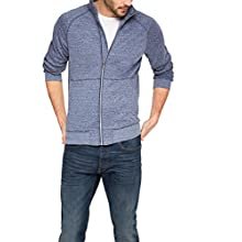 ESPRIT Herren Sweatshirt Jacke in Melange Optik – Regular Fit