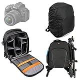 DURAGADGET Sac à dos en Nylon et résistant à l'eau pour appareils photos Nikon D5000, D5100, D3100, D600, D800, D3200, Coolpix L330, D5300, D3300 + protège pluie BONUS...