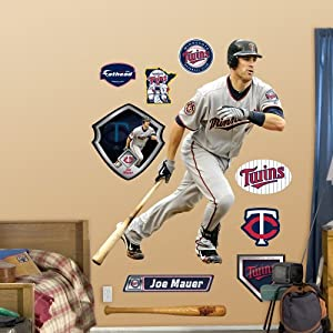 MLB Minnesota Twins Joe Mauer at Bat Wall Graphics by Fathead