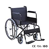 LIGHTWEIGHT FOLDING SELF PROPEL MAG WHEELCHAIR ARM & FOOT RESTS 100KG MAX WEIGHT