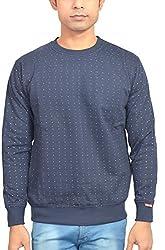 Griffel's Men Round neck Fleece Sweatshirt (X-Large, black)