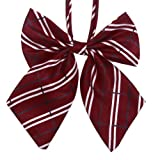 HDE Dark Red Crimson Blood Vampire White Ghost Plaid Bow Tie