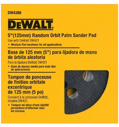 DEWALT DW4388 5-Inch Random Orbit Palm Sander Pad, Medium (Fits the DW421K and DW423K)