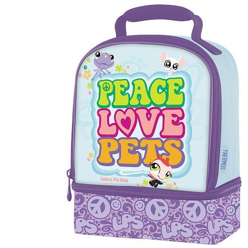 Littlest Pet Shop Dual Compartment Lunch Box- Peace, Love, Pets front-879506