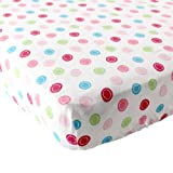 Luvable Friends Geometric Print Fitted Bassinet Sheet, Pink