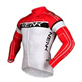 Sobike NENK Cycling Long Jersey long Sleeves-Cooree 2 Colours (Red, L)