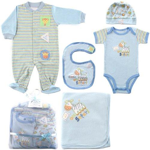 Hudson Baby 6-Piece Baby Clothing On Safari Boys