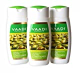 Silky Smooth Conditioner - Olive Oil Conditioner with Avocado Extract - Herbal Conditioner - Sulfate Free - Scalp Therapy - Moisture Therapy - ALL Natural - Each 3.7 Ounces - Value Pack of 3 X 110ml (11.16 Ounces) - Vaadi Herbals