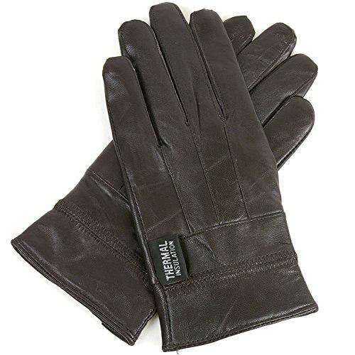Alpine Swiss Women's Dressy Leather Touchscreen Gloves for Smartpones BRN M Genuine Leather Gauntlet Gloves