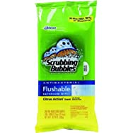 Johnson S C Inc 70614 Scrubbing Bubbles Flushable Bathroom Wipes