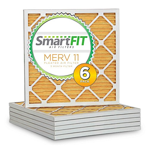 SmartFIT 14x14x1 MERV 11 Air Filter / Furnace Filter (6 Pack)