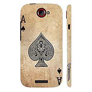HTC ONE S BE THE ACE OF SPADES designer mobile hard shell case by Enthopia