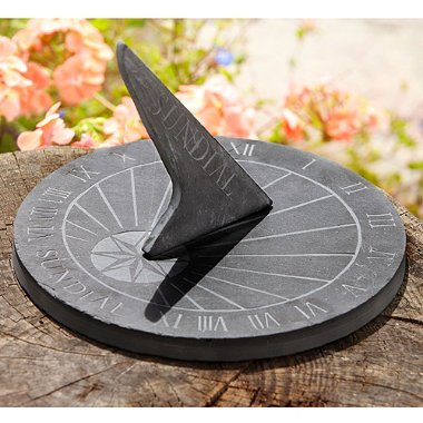 Sun Dial Round in Grey Slate Large OGD220