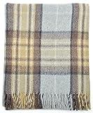 100% Wool Mackellar Tartan Rug Throw Blanket Gift
